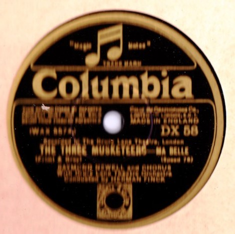 Raymond Newell - The Three Musketeers - Columbia DX.58